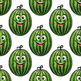 Happy green watermelon seamless Stock Image