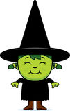 Happy Green Witch Stock Photo