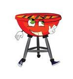Happy grill cartoon Royalty Free Stock Image