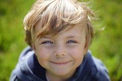 Happy grimy kid Stock Photography