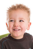 Happy grin. Two year old boy with a happy grin on his face Royalty Free Stock Image