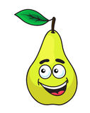 Happy grinning ripe pear fruit Royalty Free Stock Image