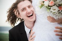Happy groom Royalty Free Stock Photography