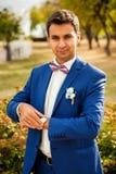 Happy groom Stock Photos