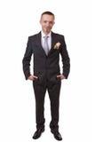 Happy groom Stock Images