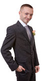 Happy groom. Portrait of a happy groom Royalty Free Stock Photo