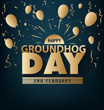 Happy groundhog day card holiday Stock Photography