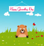 Happy groundhog day card holiday Royalty Free Stock Images