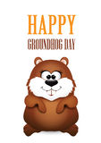 Happy Groundhog Day design Stock Photography