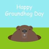 Happy Groundhog Day Stock Photo