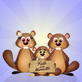 Happy groundhog day Royalty Free Stock Images