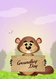 Happy groundhog day Royalty Free Stock Photography