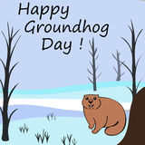Happy Groundhog day Royalty Free Stock Image
