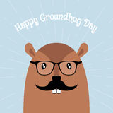 Happy Groundhog Day Vector Card Stock Photography