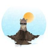 Happy Groundhog Day. Royalty Free Stock Photo