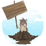 Happy Groundhog Day. Royalty Free Stock Photography