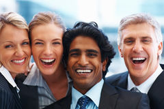 Happy group of business colleagues Royalty Free Stock Photos