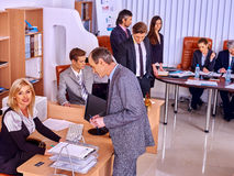 Happy group business people working in office. Royalty Free Stock Photos