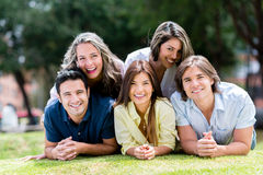 Happy group of casual people Stock Photo