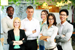 Happy group of co-workers Stock Image