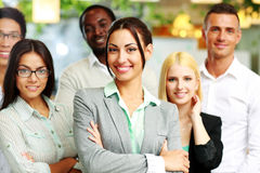 Happy group of co-workers Royalty Free Stock Image
