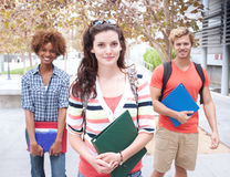 Happy group of college students Royalty Free Stock Photography