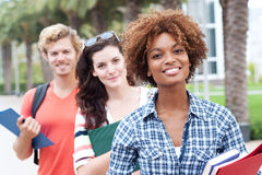 Happy group of college students Stock Images