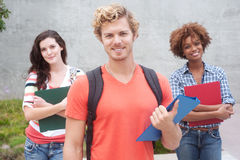 Happy group of college students Royalty Free Stock Images