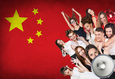 Happy group of diverse students Stock Image