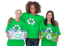 Happy group of enviromental activists Stock Image