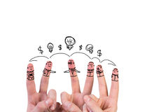 Happy group of finger Royalty Free Stock Images