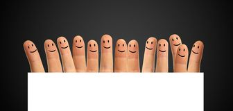 Happy group fingers Royalty Free Stock Photo