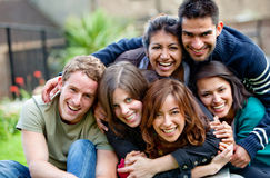 Happy group of friends Royalty Free Stock Image