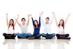 Happy group of friends Stock Photo