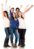 Happy group of friends Royalty Free Stock Images