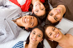 Happy group of friends Stock Photography