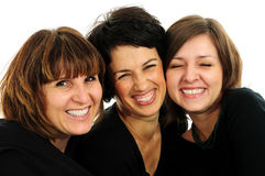 Happy group of friends. Over white background Stock Photo
