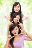 Happy group of girls Stock Image