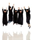 Happy group of graduates Royalty Free Stock Image