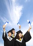 Happy group of  graduation students Royalty Free Stock Photos
