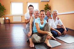 Happy group in a gym Royalty Free Stock Photography