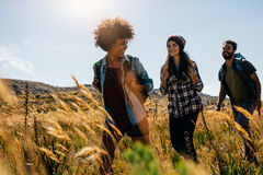 Free Happy Group Of Friends Hiking Together Royalty Free Stock Images - 86589219