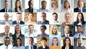 Free Happy Group Of Multiethnic Business People Men And Women. Multicultural Faces Looking At Camera Royalty Free Stock Photo - 200000015
