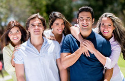 Happy group of people Royalty Free Stock Photos
