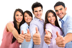 Group of people with thumbs up Royalty Free Stock Image