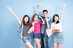 Happy group student Royalty Free Stock Photo