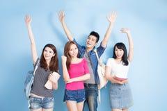 Happy group student stock photo