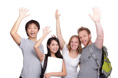 Happy Group of student Royalty Free Stock Image