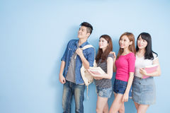Happy group student stock photography