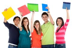 Happy group of students Royalty Free Stock Image